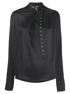 Marques'Almeida buckle collar blouse - Black