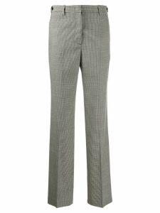 MSGM check pattern wide-leg trousers - Black