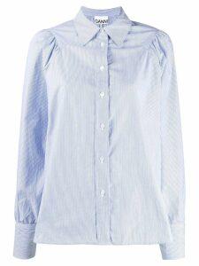 GANNI classic poplin shirt - Blue