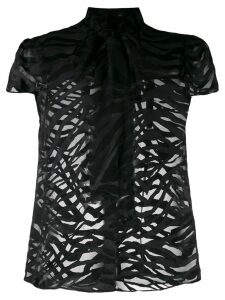 Alice+Olivia Jeannie bow blouse - Black