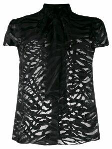 Alice+Olivia Jeannie bow blouse - Black