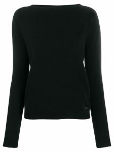 LIU JO crystal embellished-logo sweater - Black