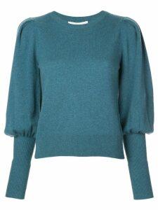 Jonathan Simkhai puff sleeve sweater - Blue