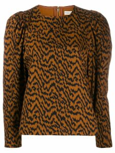 Ulla Johnson Ikat zebra print blouse - Brown