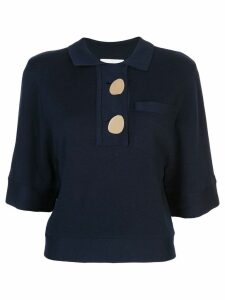 Ba & Sh knitted polo top - Blue