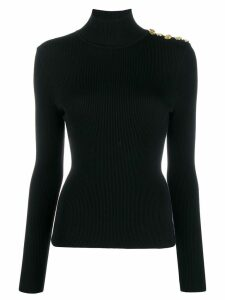 Alexandre Vauthier ribbed design jumper - Black