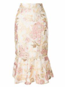 We Are Kindred Delphi floral-brocade skirt - White