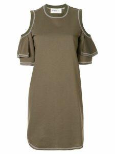 PortsPURE cut-out shoulder dress - Green