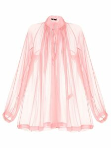 Kitx gathered neck sheer blouse - PINK