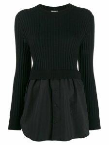 Kenzo mixed knit sweater - Black