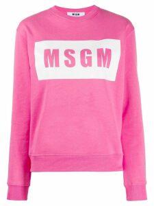 MSGM box logo sweatshirt - Pink