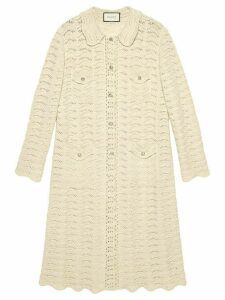 Gucci oversized crochet cardigan - White