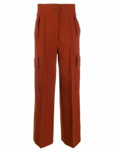 Stella McCartney high-waisted wide-leg trousers - Brown
