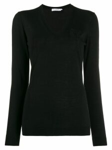 Versace Collection lightweight v-neck jumper - Black