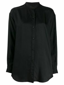 Alberto Biani band-collar long-length blouse - Black