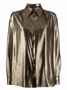 Alberta Ferretti metallic finish shirt - Gold