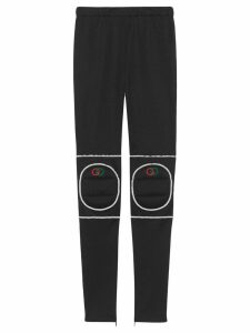 Gucci Technical jersey leggings with kneepads - Black