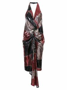Halpern halterneck sequin-embellished dress - Multicolour