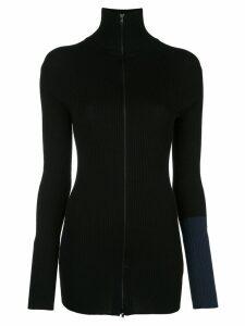 Yohji Yamamoto zipped knitted sweater - Black