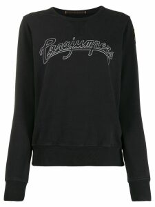 Parajumpers round neck logo sweater - Black