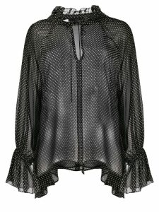 Nili Lotan sheer polka dot blouse - Black