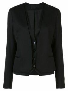 RtA double layer single-breasted blazer - Black