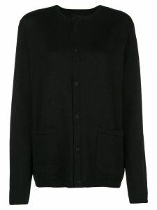 Yohji Yamamoto Asakura wool cardigan - Black