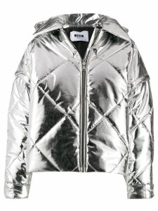 MSGM quilted puffer jacket - SILVER