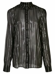 RtA Blythe striped sheer shirt - Black