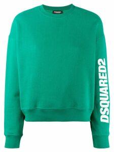 Dsquared2 logo print sweatshirt - Green