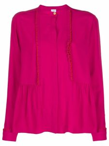 PS Paul Smith pleated trim blouse - PINK