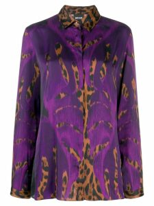 Just Cavalli leopard print blouse - PURPLE