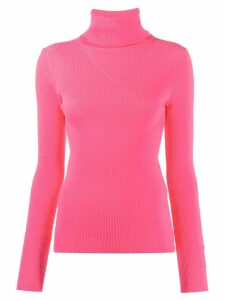 MSGM turtleneck knitted jumper - PINK