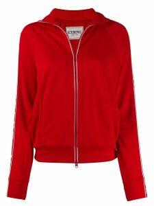 Iceberg logo zipped sweatshirt - Red