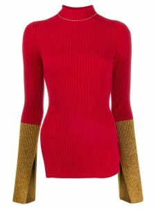 Moncler 1952 ribbed contrast cuff sweater - Red