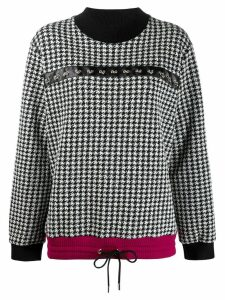 Just Cavalli houndstooth jumper - White