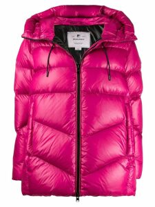 Woolrich hooded puffer jacket - PINK