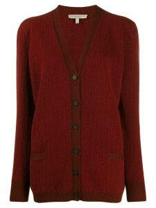 Holland & Holland oversized long-sleeve cardigan - Red