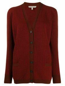 Holland & Holland oversized long-sleeve cardigan - Red