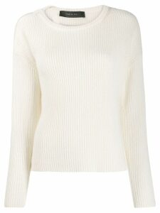 Federica Tosi long-sleeve fitted sweater - White