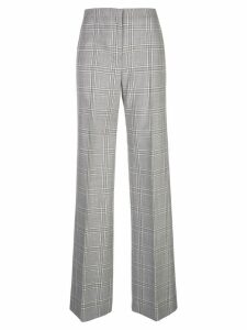 Narciso Rodriguez plaid print trousers - Grey