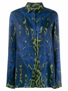Just Cavalli leopard print blouse - Blue