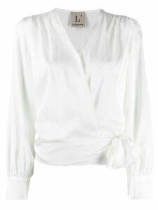 L'Autre Chose satin blouse - White