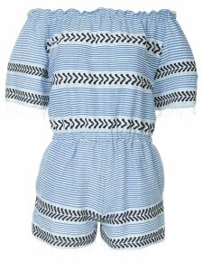 lemlem off the shoulder romper - Blue