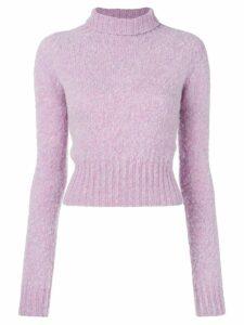 Victoria Beckham turtle neck knit jumper - PURPLE