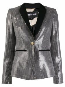 Just Cavalli check print sequin blazer - SILVER