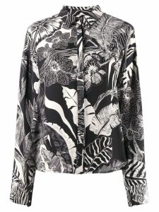 Just Cavalli floral print blouse - Black