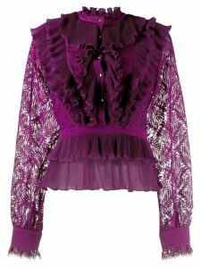 Just Cavalli tiered ruffle blouse - PURPLE