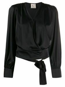 L'Autre Chose satin blouse - Black
