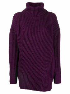 MSGM turtleneck knitted jumper - PURPLE